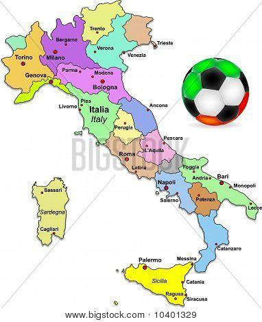 Italian football illustration