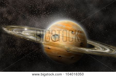 Planet With Rings System