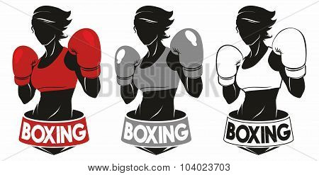 girl boxing logo