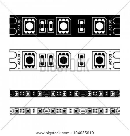 vector LED light strip seamless