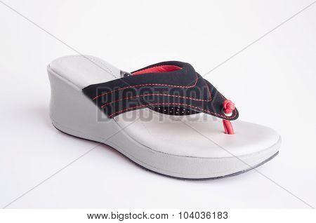 Shoe. Woman Sandal On Background. Woman Sandal On A Background.