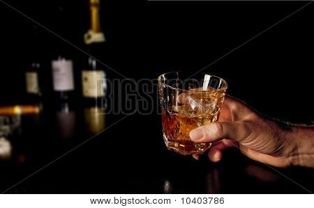 Whiskey in hands