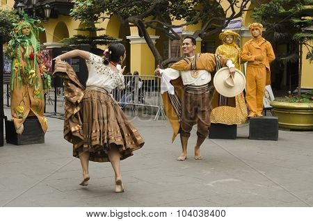 Traditional dance in Peru