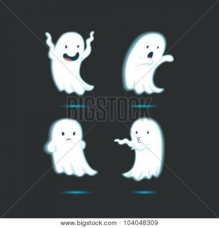 Glow in the dark cute ghost