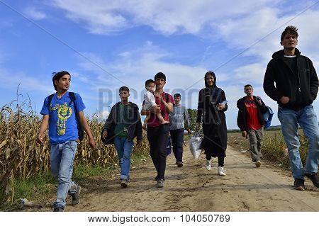 Refugees In Šid (serbian - Croatina Border)