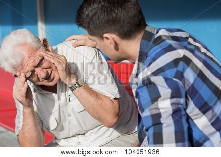Senior Man Suffering From Dizziness
