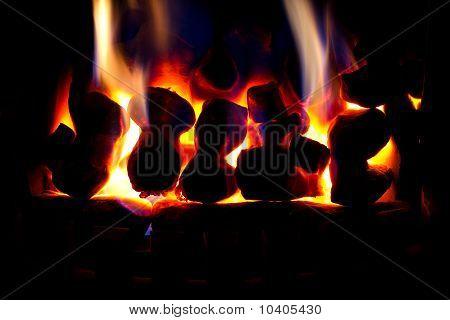 Glowing warm fire