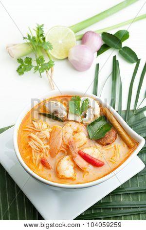 Thai Tom Yum Soup with Shrimp