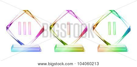 Crystal Plaque Awards Set