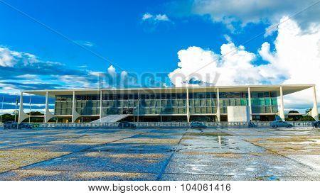 BRASILIA, BRAZIL - CIRCA MARCH 2015: Square of the Three Powers in Brasilia, the capital of Brazil