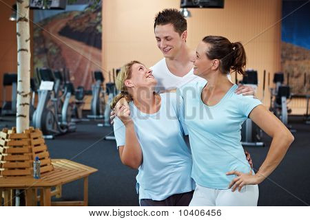 Happy Employees In Gym