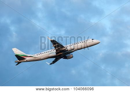 Bulgaria Air Embraer 190 After Takeoff