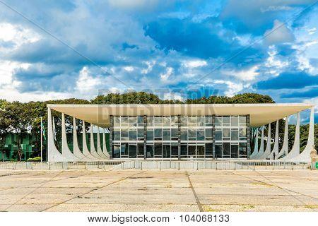 BRASILIA, BRAZIL - CIRCA MARCH 2015: Supreme Federal Tribunal in Brasilia, Brazil