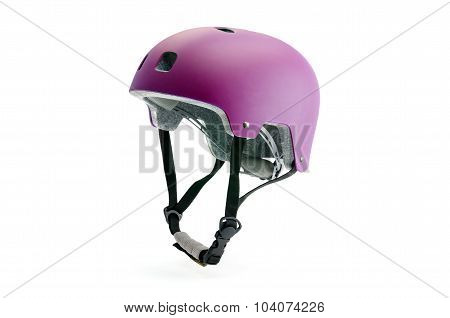 Colored helmet isolated