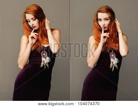 Sensual Portrait Of Woman With A Dream Catcher
