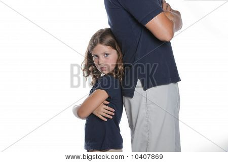 Girl Fighting With Parent