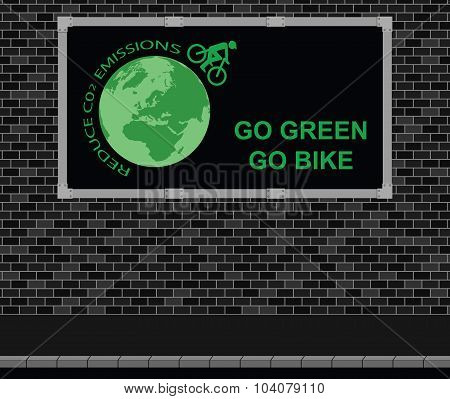 Bicycle advertising board
