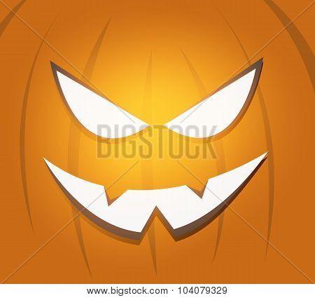 Halloween scary pumpkin face background
