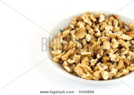 Shelled Nuts On A Plate