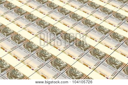 Albanian lek bills stacks background. Computer generated 3D photo rendering.