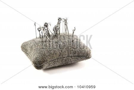 Small Cushion With Needles For Sewing