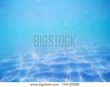 Blue Sea Floor In Alghero