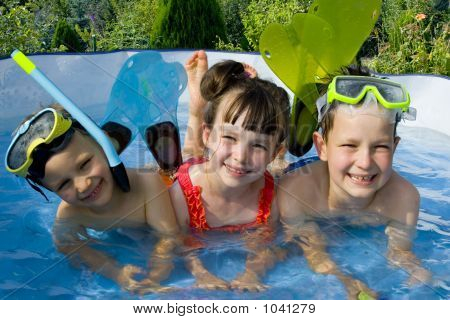 Three Young Swimmers