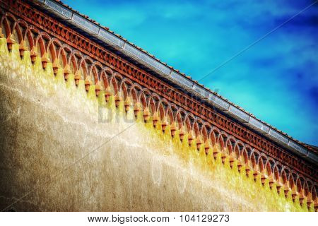 Detail Of A Building Cornice In Hdr