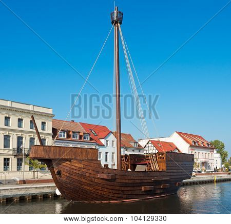 Replica Of An Old Wooden Ship