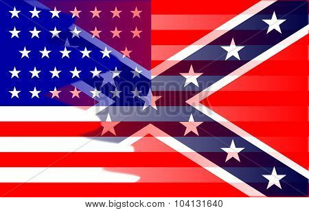 Civil War Flag Blend