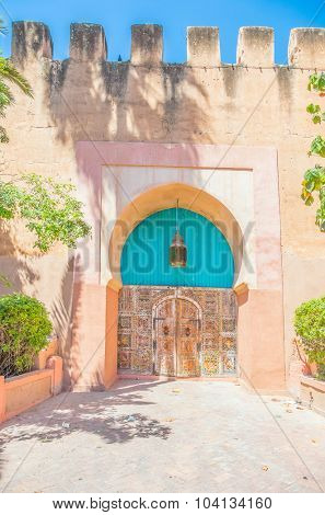 Gate in ancient walls in Taroudant, Morocco