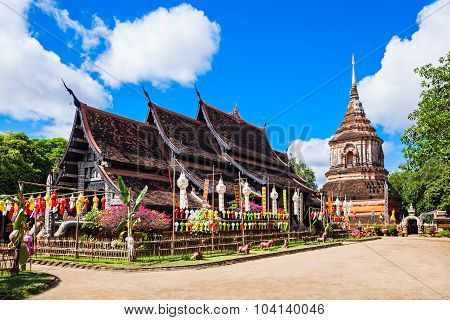 Wat Lok Molee is a Buddhist temple in Chiang Mai Thailand poster