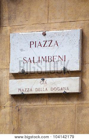Piazza Salimbeni In Siena, Tuscany
