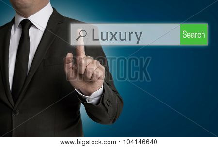 Luxury Internet Browser Is Operated By Businessman Concept