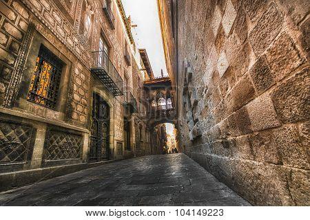 Gothic Quarter. Barcelona. Spain.
