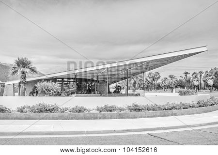 Black And White Tramway Gas Station In Palm Springs