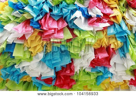 Background Of Color Roll Plastic Bag