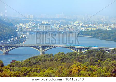 Metro Bridge. Kyiv, Ukraine