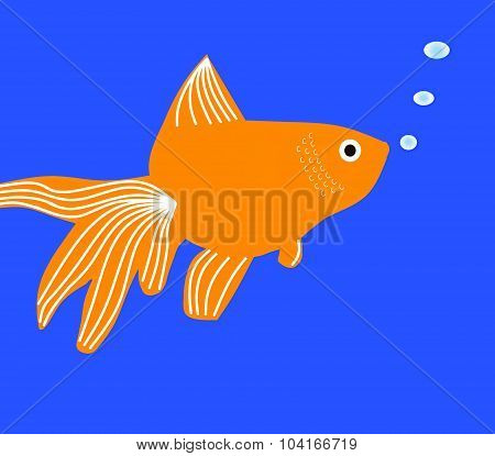 fantail goldfish cartoon clip art