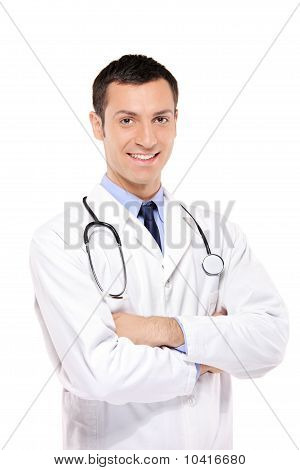 A Portrait Of A Medical Doctor Posing