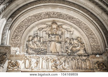 St. Bartholomew's Episcopal church relief in New York poster