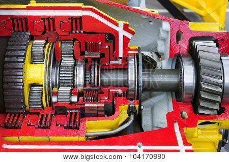 Bulldozer drive gear mechanism