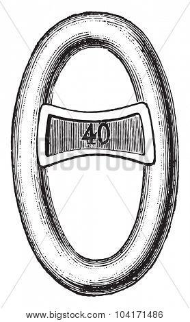 Reinforcement mesh, vintage engraved illustration. Industrial encyclopedia E.-O. Lami - 1875.