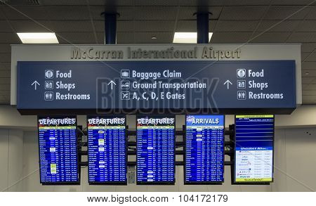 Airport departure and arrival screens