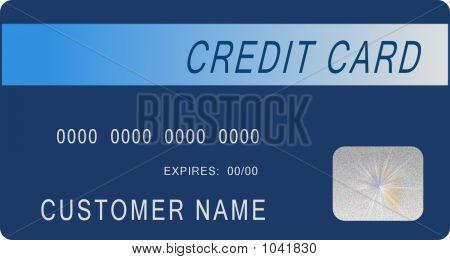 Mock Blue Credit Card