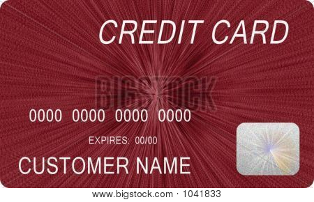 Mock Red Credit Card 1