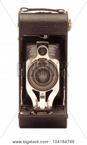Vintage Folding Bellows Roll Film Camera