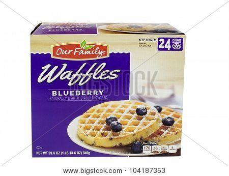 Blueberry Waffles Box