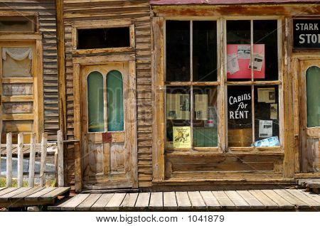 old hotel building in the ghost town of st. elmo colorado poster