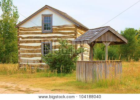 Log House in Woods